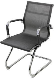 Cadeira Eames Telinha Fixa Cinza Cromada - 29079 - Sun House