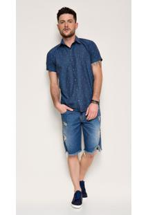 Bermuda Jeans Zait Abel Azul Marinho