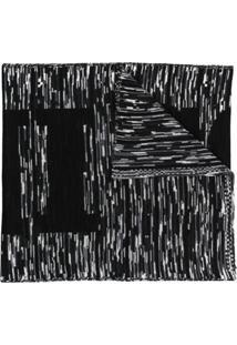 Missoni Cachecol De Tricô Com Padronagem Intarsia - Preto