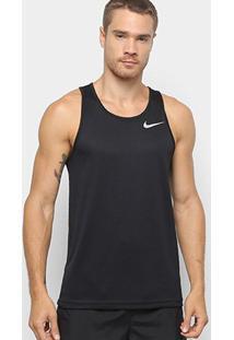 Camiseta Regata Nike Dri-Fit Breathe Run Masculino - Masculino-Preto+Prata