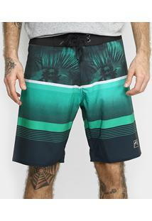 Bermuda Boardshort Rusty Tropical Blocks Masculina - Masculino