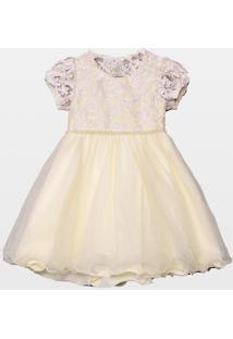 Vestido Laureh Bordado La Martina Off-White