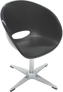 Cadeira Elena Giratoria Preto