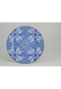 Conjunto De Pratos Para Sobremesa Porcelana Schmidt 06 Peças - Dec. Azulejos