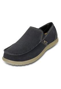 Sapato Crocs Santa Cruz Mens Preto/Bege.