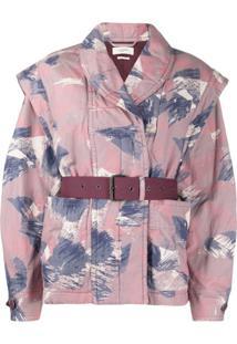 Isabel Marant Étoile Raine Abstract-Print Jacket - Rosa