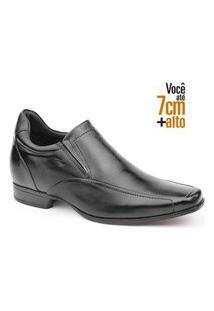 Sapato Rafarillo Alth 3225 Couro Legitimo 7 Cm + Alto Preto