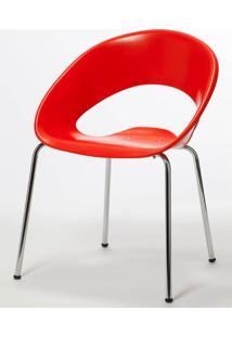 Cadeira One Base Fixa Cromada Cor Vermelho - 22671 - Sun House