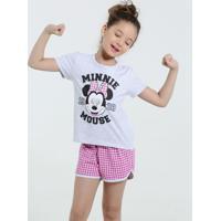cc6a3fa0a Marisa. Pijama Infantil Estampa Minnie Xadrez Disney