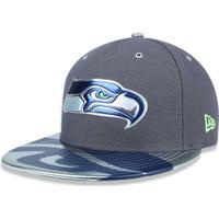 Boné 5950 Seattle Seahawks Nfl Aba Reta New Era - Masculino-Cinza a8065356973