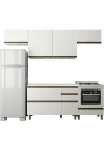 Cozinha Completa 100% Mdf Modena K108 Off White