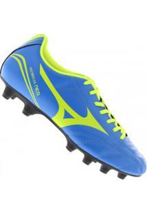78329b9dd09bf Chuteira De Campo Mizuno Morelia Neo Club Md - Adulto - Azul Verde Cla