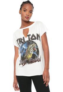 Camiseta Triton Estampada Branca