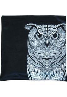 Capa Para Almofada Dark Big Owl Poliester 45X45Cm - Unissex
