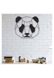 Escultura De Parede A Laser Face Panda Único