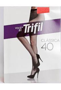Meia-Calça Neon Arrastão Feminina Trifil Fio 40 Cenoura