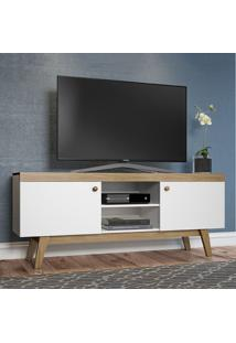 Rack Para Tv Até 60 Polegadas 2 Portas Trend 26701 Hanover/Branco - Atria Móveis