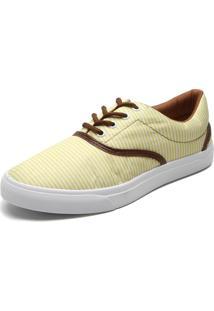 Tênis Fiveblu Listras Amarelo/Branco