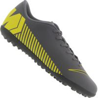 Centauro. Chuteira Society Nike Mercurial Vapor X 12 Club Tf - Adulto -  Cinza Escuro Amarelo f0666d6c8bfa5