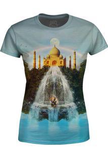 Camiseta Baby Look Taj Mahal Obver Fame Cinza