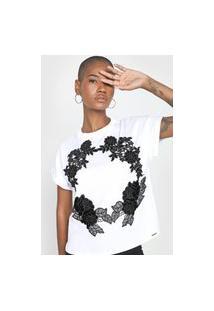 Camiseta Lança Perfume Floral Branca