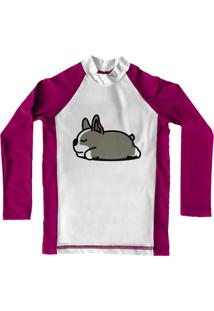 Camiseta De Lycra Comfy Sleep Dog Rosa