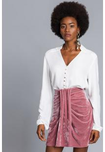 Camisa Manga Longa Ampla Branco Off White - Lez A Lez