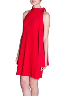 Vestido Maria Pavan Gola Laço Vermelho