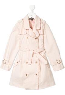 Velveteen Trench Coat Taylor Com Pregas - Rosa