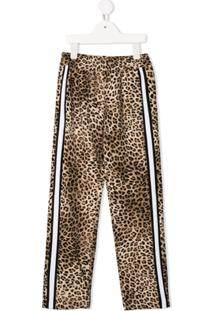 Monnalisa Calça Animal Print - Neutro