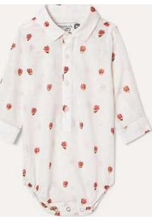 Camisa Pf Bb Estampada Animoji Branco
