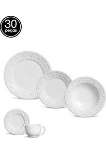 Aparelho Jantar/Chá 30Pçs Flat Fraise Branco