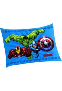 Fronha Avengers®- Azul Verde- 50X70Cm- Lepperlepper