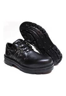 Bota Sapato Estilo Sovietico Netony Calçados Preto