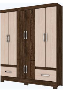 Guarda-Roupa 8 Portas Henn Briz B27-85 Moka Fendi Se