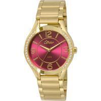 3c91f185c2b Okulos. Relógio Feminino Condor Analógico Com Cristais Swarovski  Co2035Krg 4N Dourado