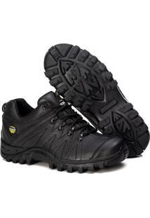 Bota Adventure Tchwm Shoes Couro Cano Baixo Design Classico - Masculino-Preto