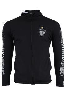 Jaqueta Do Atlético-Mg Com Capuz Under - Masculina - Preto