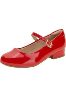 Sapato Infantil Feminino Molekinha - 2528101 Vermelho 30