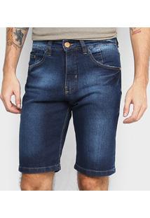 Bermuda Jeans Hd Clássica Masculina - Masculino-Azul