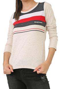 Camiseta Hang Loose Lines Bege/Cinza