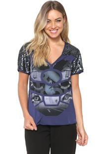 Camiseta Triton Reta Azul