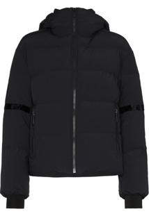 Fusalp Bars Logo Patch Puffer Jacket - Preto