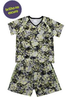 Pijama Infantil Masculino Costura Contrastante Puc Lab [] []