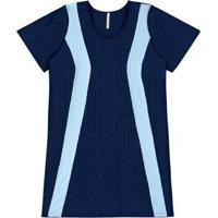 Posthaus. Vestido Manga Curta Lunender Azul Marinho dd4d9f8cb3d43