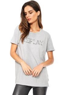 Camiseta Replay Glitter Cinza