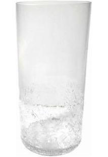 Vaso 25Cm De Vidro Transparente- Gs Kraklet
