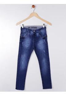 Calça Jeans Juvenil Akiyoshi Masculina - Masculino-Azul
