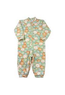 Macacão Infantil Pijama Ano Zero Microsoft Estampado Pp - Verde