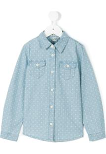 Courage And Kind Kids Camisa De Cambraia 'Minnie Mouse' - Azul